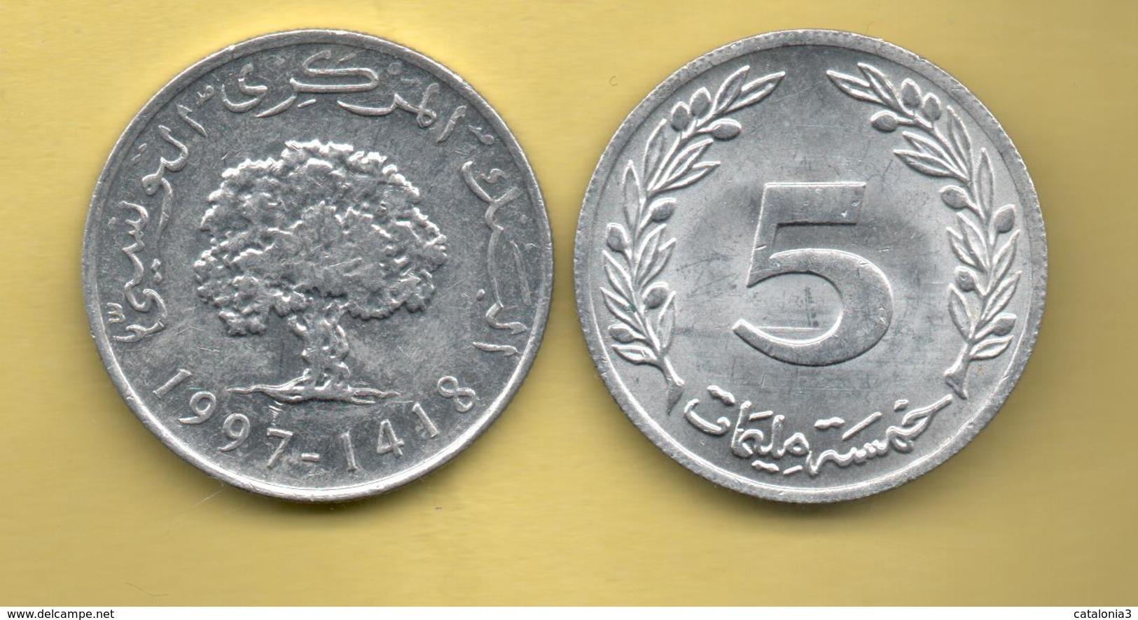 TUNEZ - 5 Millim 1997 - Túnez