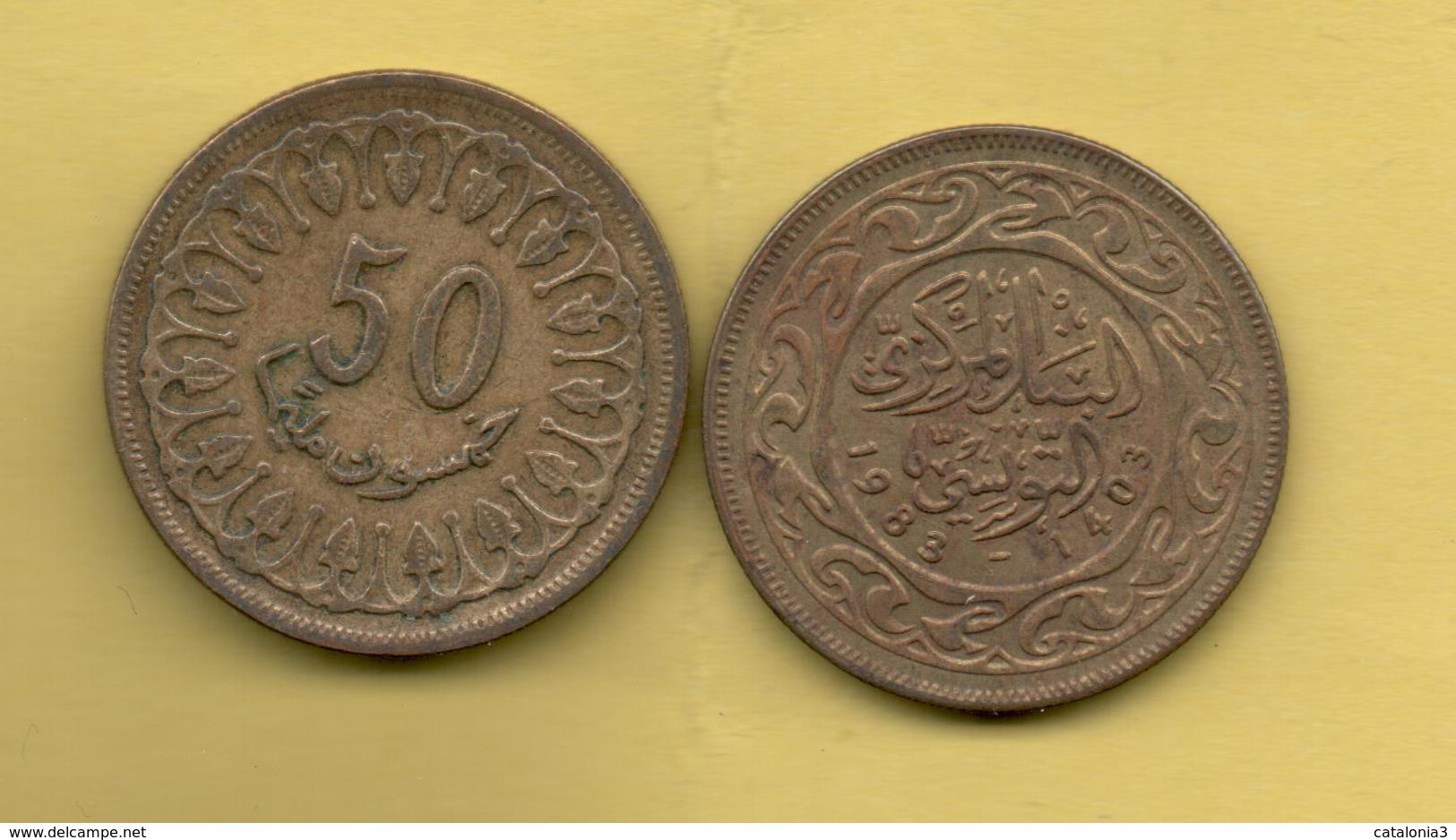 TUNEZ - 50 Millim 1983 - Túnez