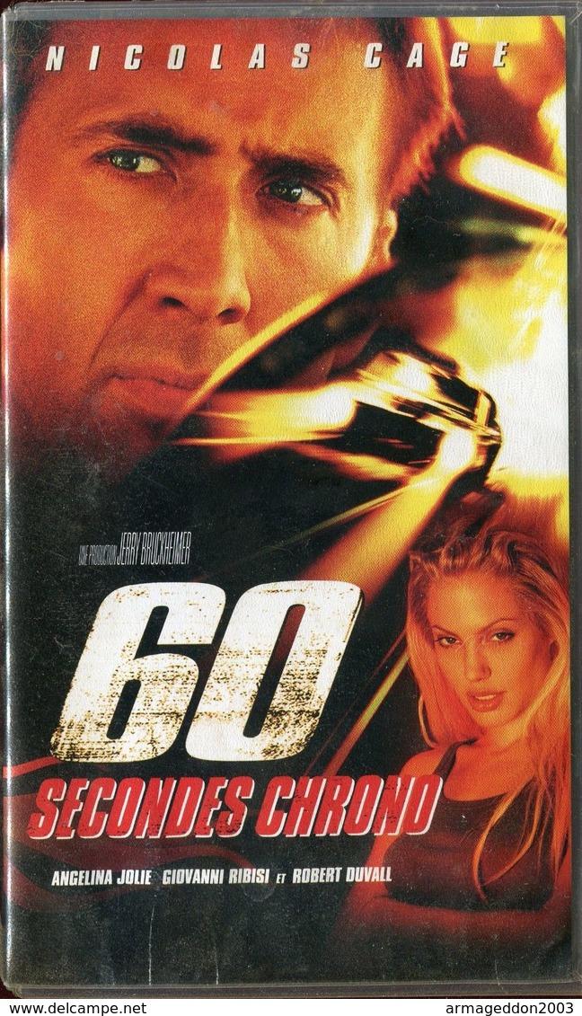 K7 VHS CASSETTE VIDEO - 60 SECONDES CHRONO - Action, Aventure