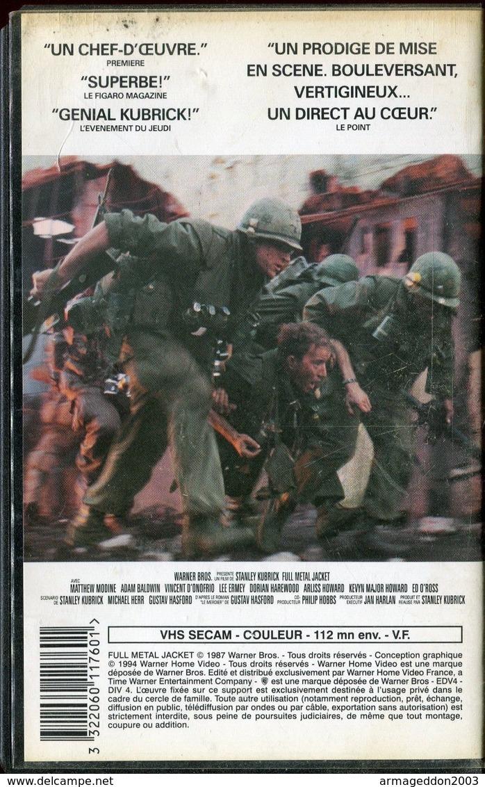 K7 VHS CASSETTE VIDEO - FULL METAL JACKET - Action, Aventure