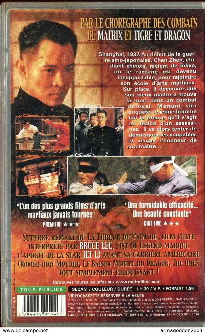 K7 VHS CASSETTE VIDEO - JET LI FIST OF LEGEND - Action, Aventure