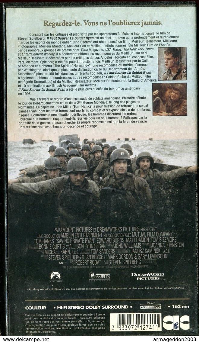 K7 VHS CASSETTE VIDEO - IL FAUT SAUVER LE SOLDAT RYAN - Action, Aventure