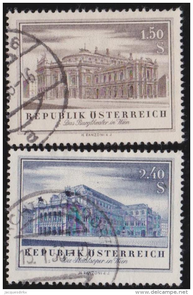 Oostenrijk     .     Yvert        .   853/854     .    O    .     Gebruikt - 1945-.... 2de Republiek