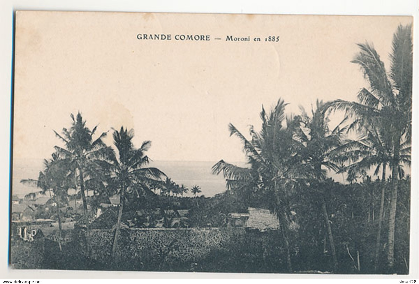 GRANDE COMORE - MORONI EN 1885 - Comores
