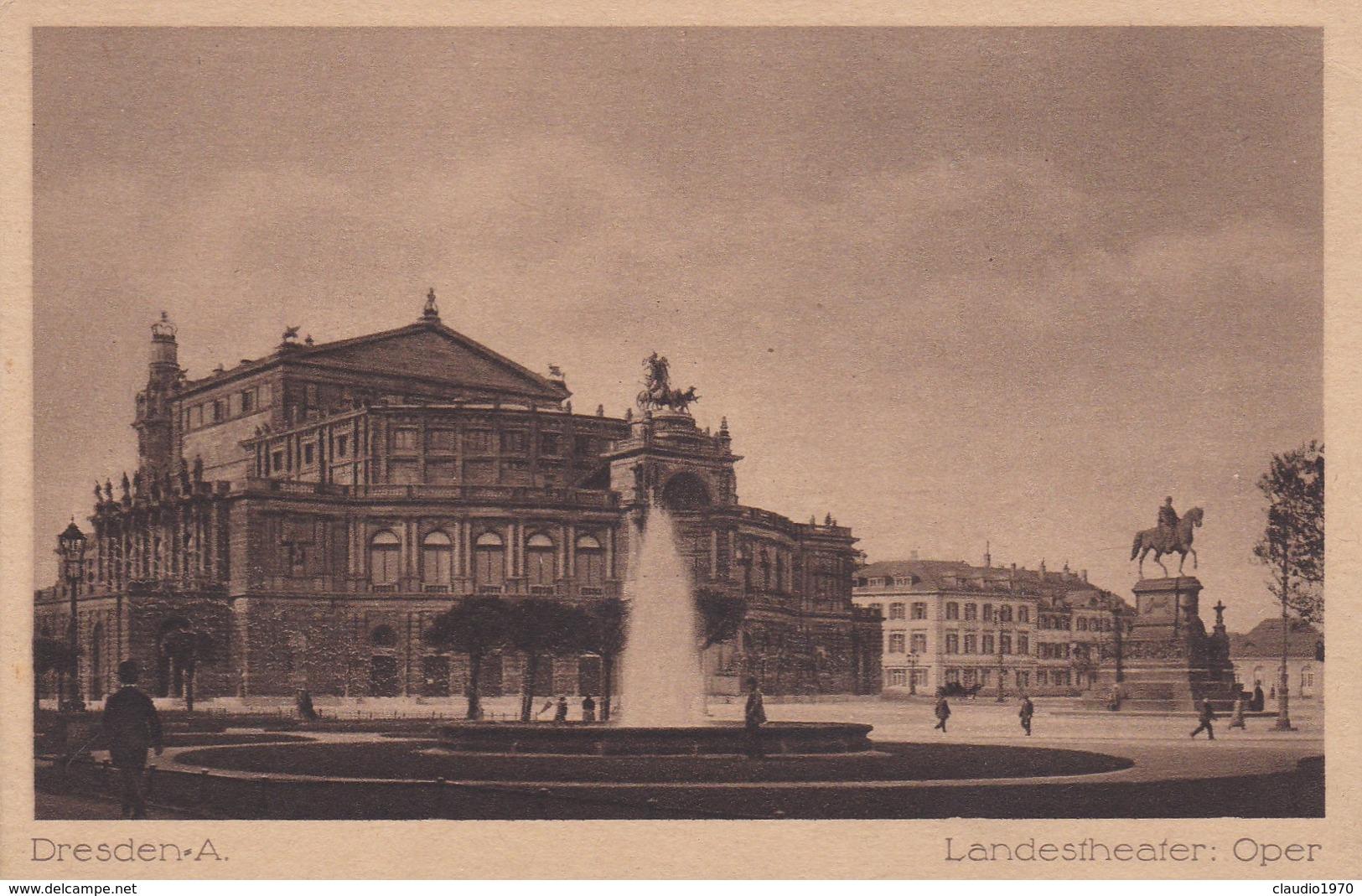 CARTOLINA - POSTCARD - GERMANIA - DRESDEN A. LANDESFHEATER. OPEN - Dresden