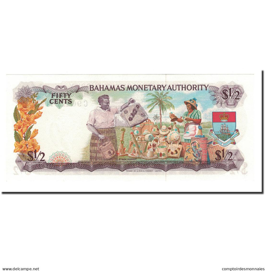 Billet, Bahamas, 1/2 Dollar, L.1968, KM:26a, NEUF - Bahamas