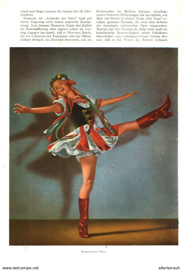 Vom Tänzerischen Stilalphabet Zum Klassischen Tansstil / Artikel, Entnommen Aus Zeitschrift /1942 - Livres, BD, Revues