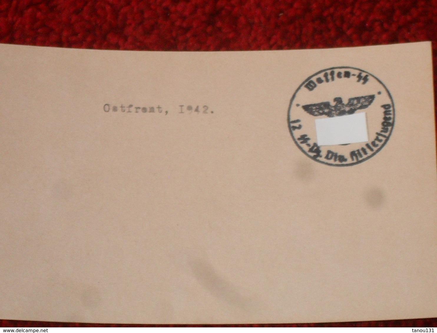 WW2. ALLEMAGNE. PHOTOGRAPHIE AUTOCHENILLE. OSTFRONT 1942 - Documenti