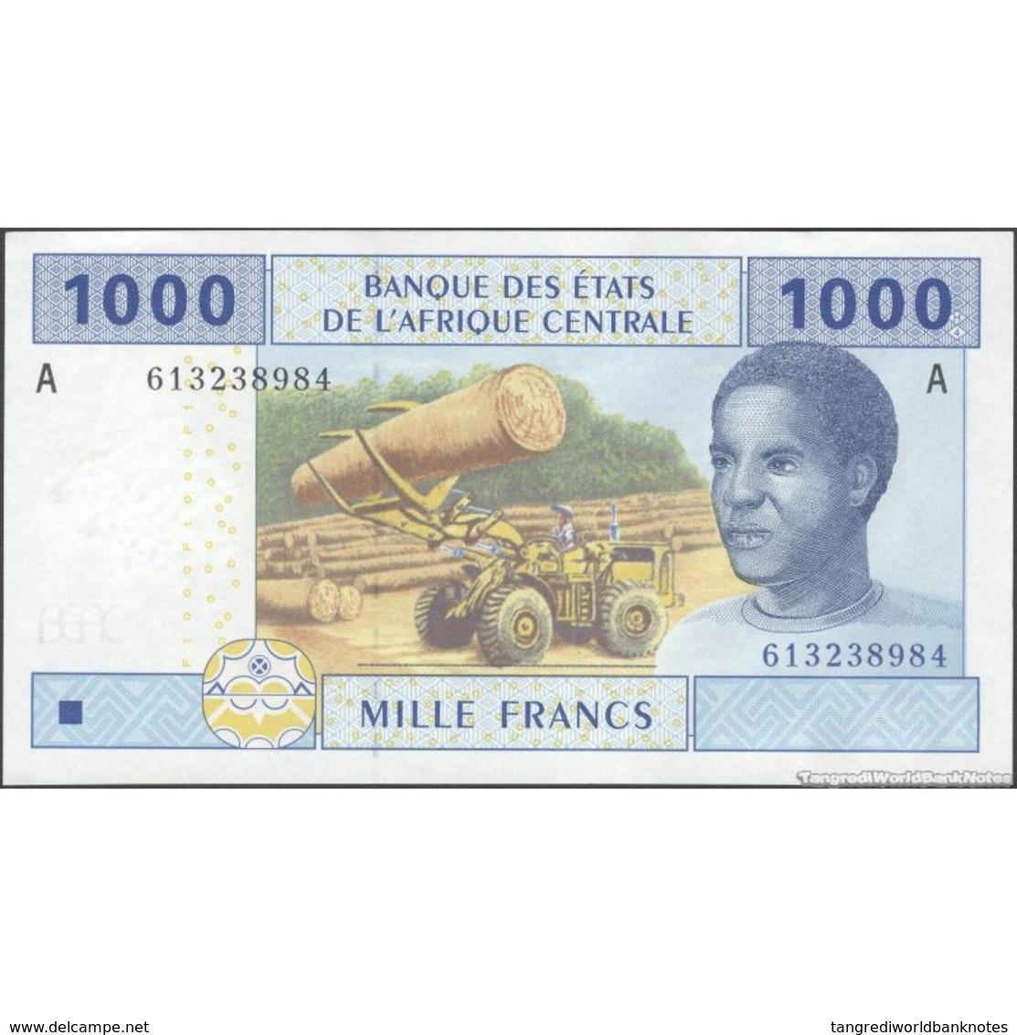 TWN - GABON (C.A.S.) 407Ac2 - 1000 1.000 Francs 2002 (2016) UNC - Gabon