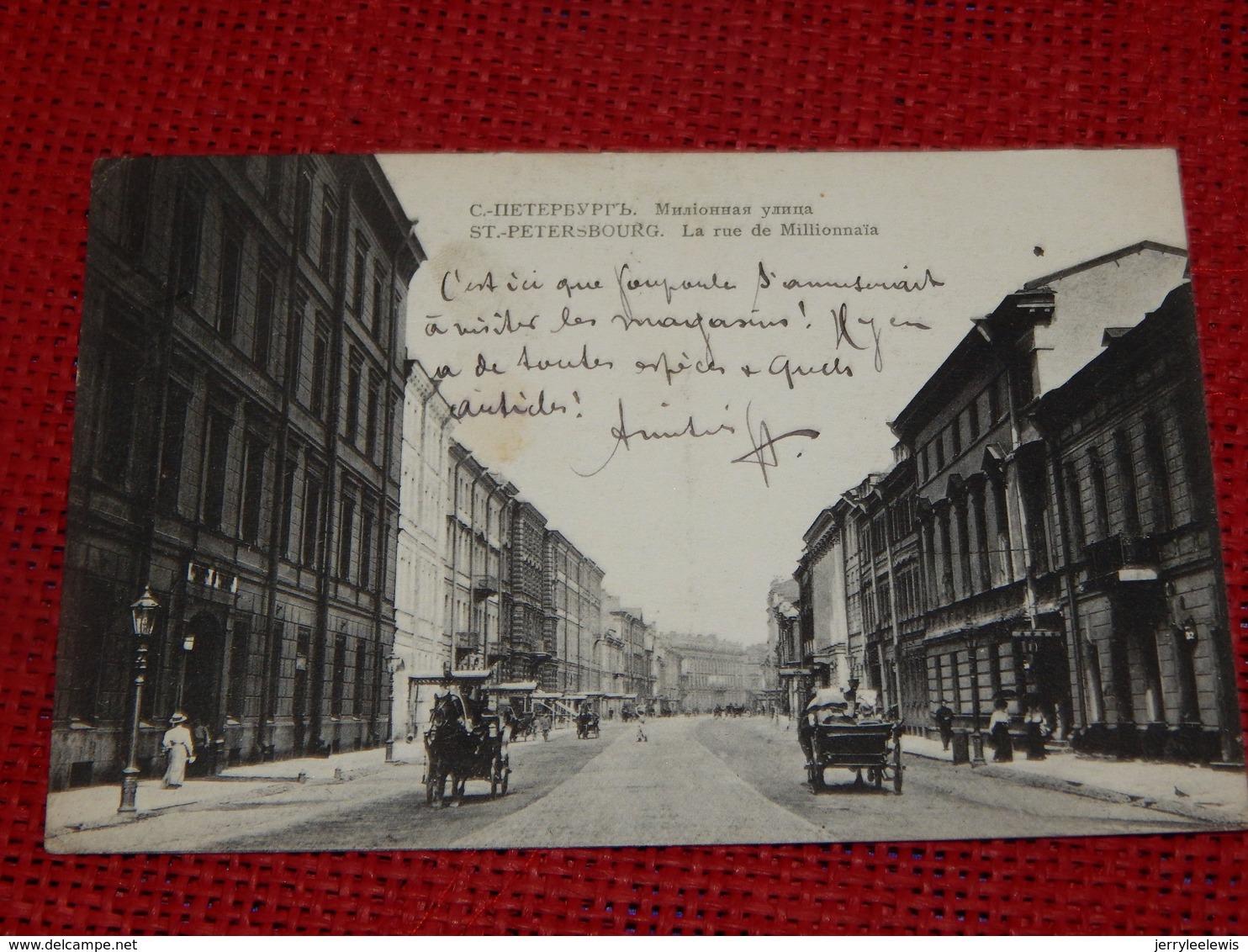 SAINT PETERSBOURG  -  La Rue Millionnaïa -   1912 - Rusland