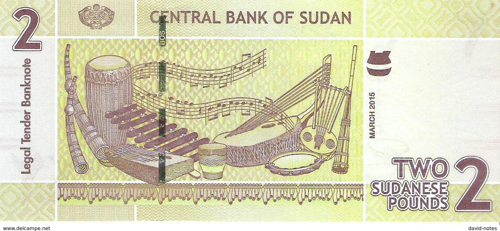 Sudan - Pick 71 - 2 Pounds 2015 - Unc - Soudan