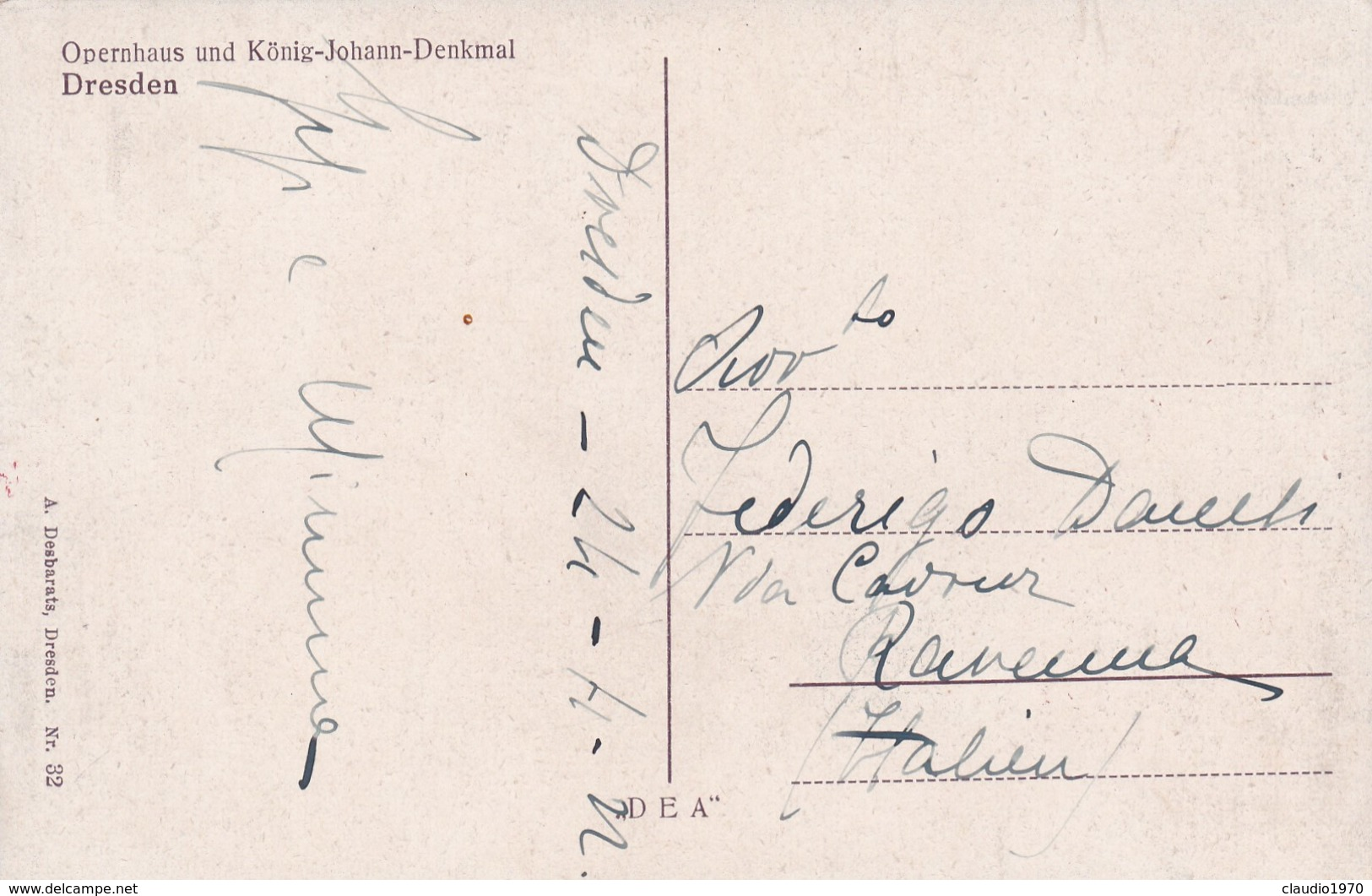 CARTOLINA - POSTCARD - DRESDEN - OPERNHAUS UND KONIG - JOHANN - DENKMAL - Dresden