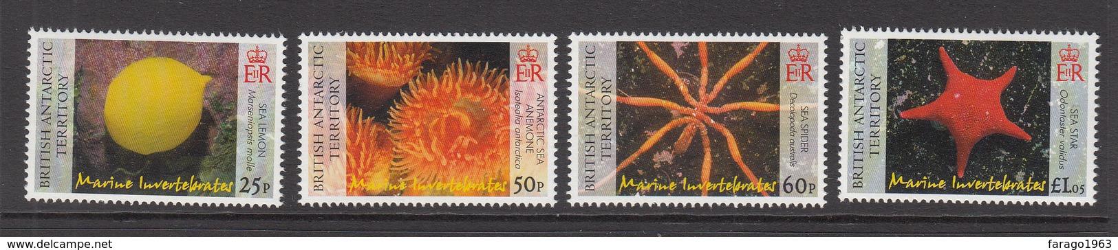 2007 British Antarctic Territory Marine Life Invertebrates Spider    Complete Set Of 4   MNH - Ungebraucht