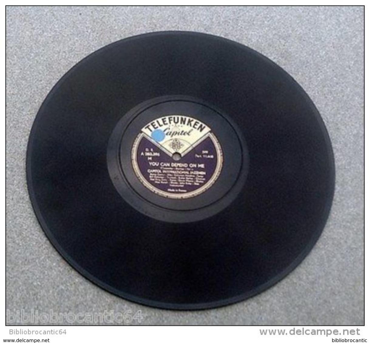 "78 Tours""CAPITOL INTERNATIONAL JAZZMEN"" < STORMY WEATHER /YOU CAN DEPEND ON ME < CAPITOL.TEL.. - 78 Rpm - Schellackplatten"