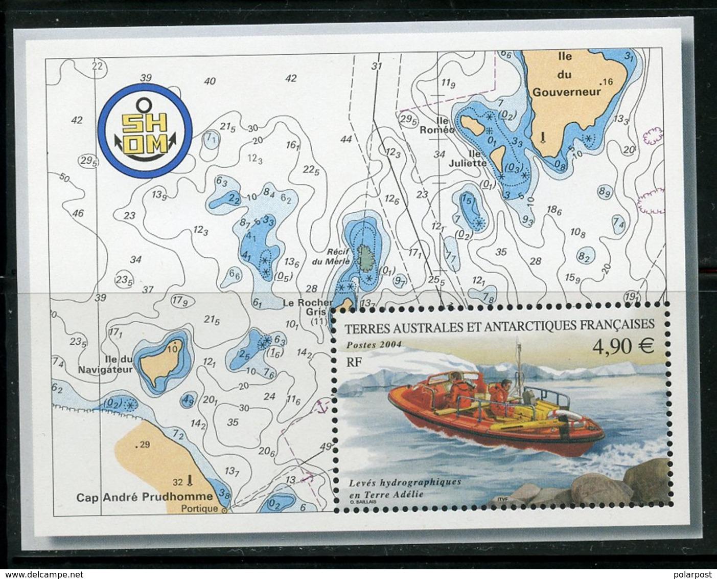 Y45 TAAF 2004 554 (бл.12) Hydrographic Studies In Adelie Land - Antarktis-Expeditionen