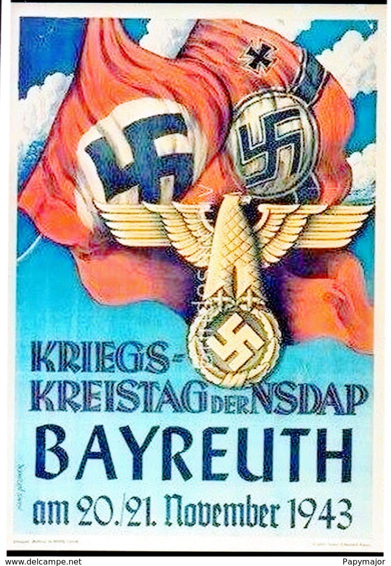 """Militaria WW2 - Photo Affiche """"Kriegs-Kreistag Der NSDAP Bayreuth"""" - 1939-45"""