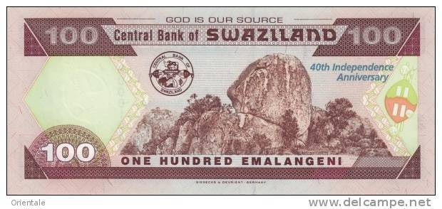 SWAZILAND P. 34 100 E 2008 UNC - Swaziland