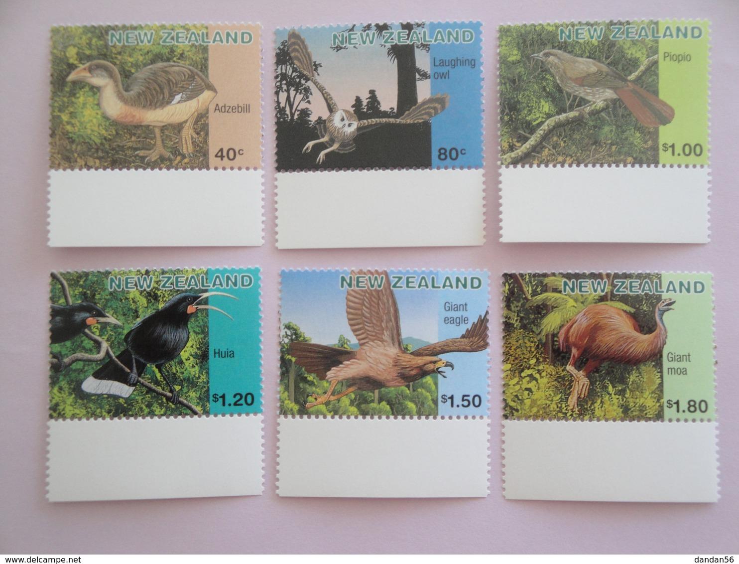 1996 Nouvelle Zélande Oiseaux Birds Yvert 1482/7 ** Scott 1393/8 Michel 1558/63 SG 2028/32 - Oiseaux