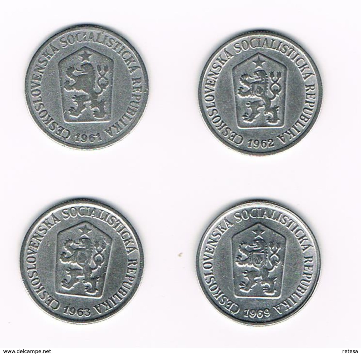 TSJECHOSLOWAKIJE  4 X 10 HALERU  1961/62/63/69 - Czechoslovakia