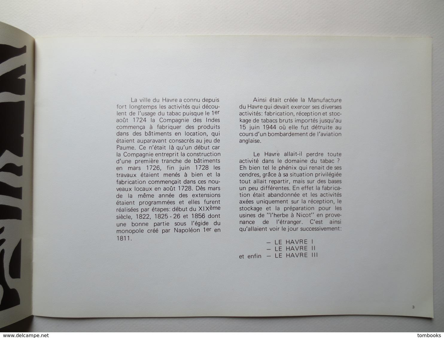 Le Havre - Catalogue - Le SEITA Au Havre - Complet Avec Plan Et Photographies - SERPI  , B.E - - Documents