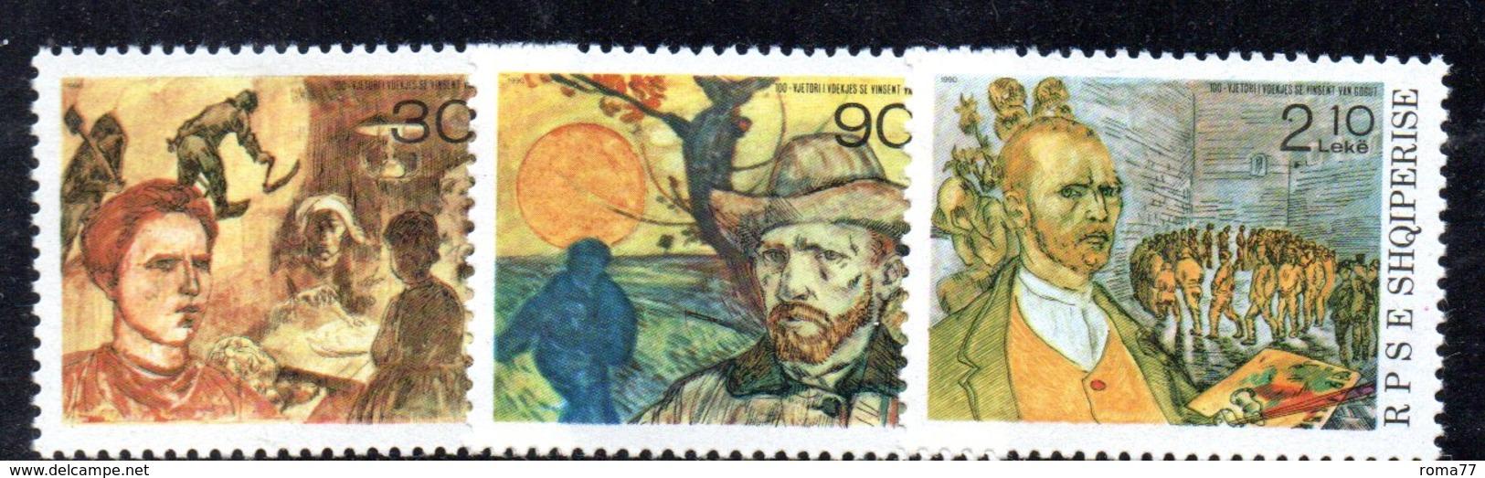 358 490 - ALBANIA 1990, Yvert N. 2233/2235  ***  MNH Van Gogh - Albania