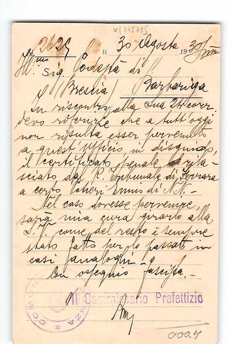 9552 01  MUNICIPIO DI VIGONZA X BARBARIGA - 1900-44 Vittorio Emanuele III