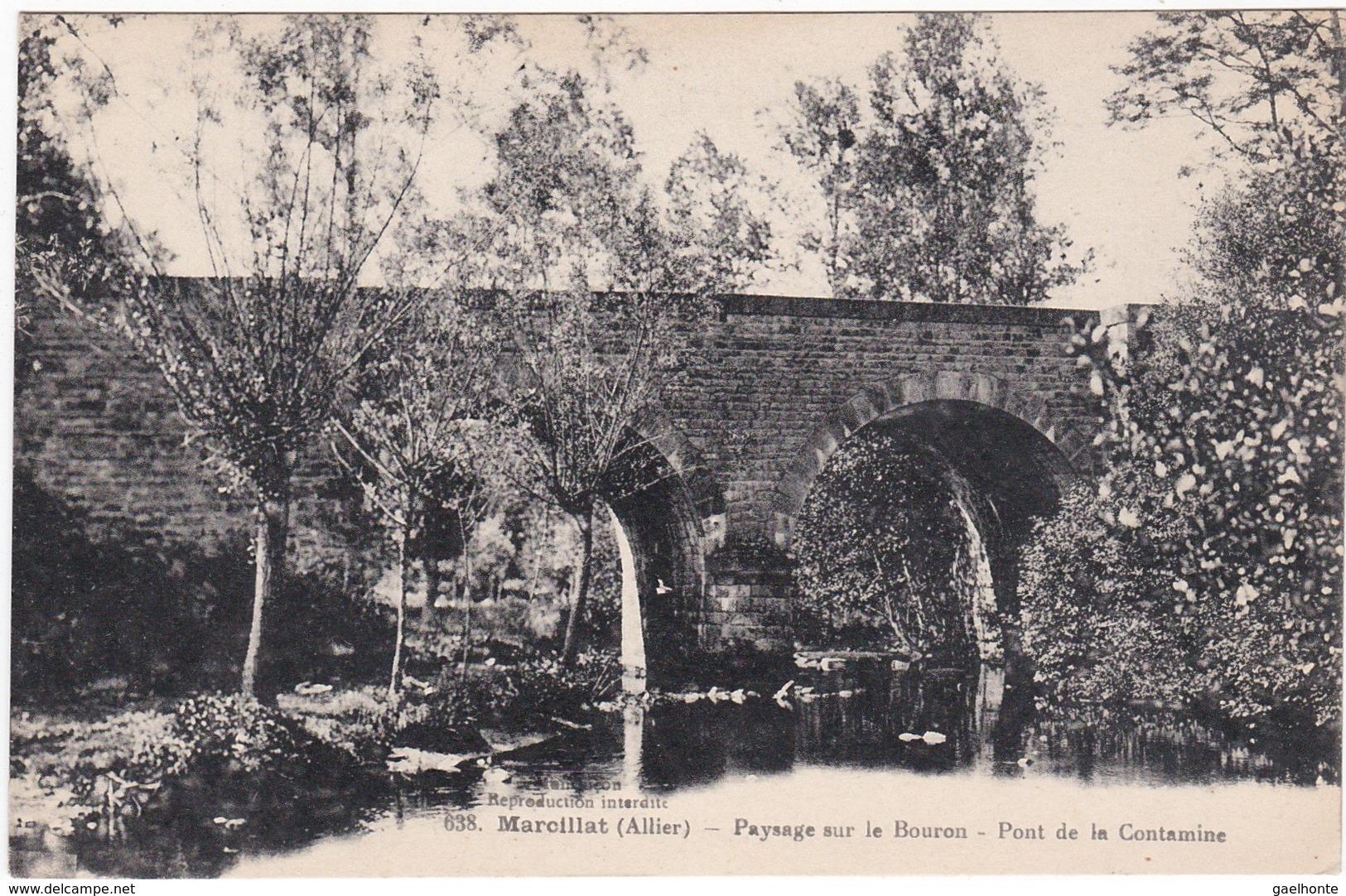 F03-005 MARCILLAT - Paysage Sur Le Bouron - Pont De La Contamine - Andere Gemeenten