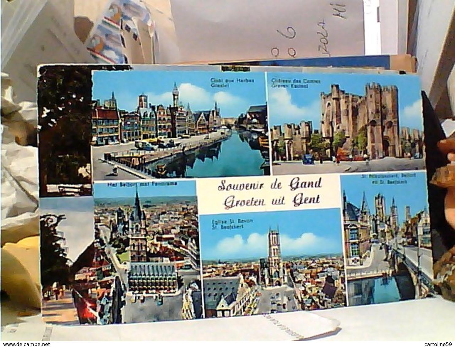 6 CARD BELGIO GENT  GAND VUES VN1960/65  GR1171 - Gent