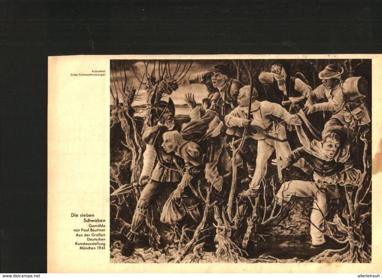 Die Sieben Schwaben (nach Einem Gemälde Von Paul Beuttner) / Druck, Entnommen Aus Zeitschrift /1942 - Livres, BD, Revues