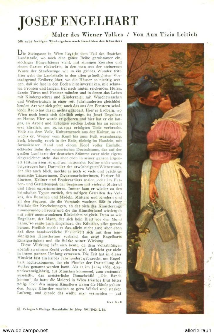 Josef Engelhart - Maler Des Wiener Volkes  / Artikel, Entnommen Aus Zeitschrift /1942 - Livres, BD, Revues