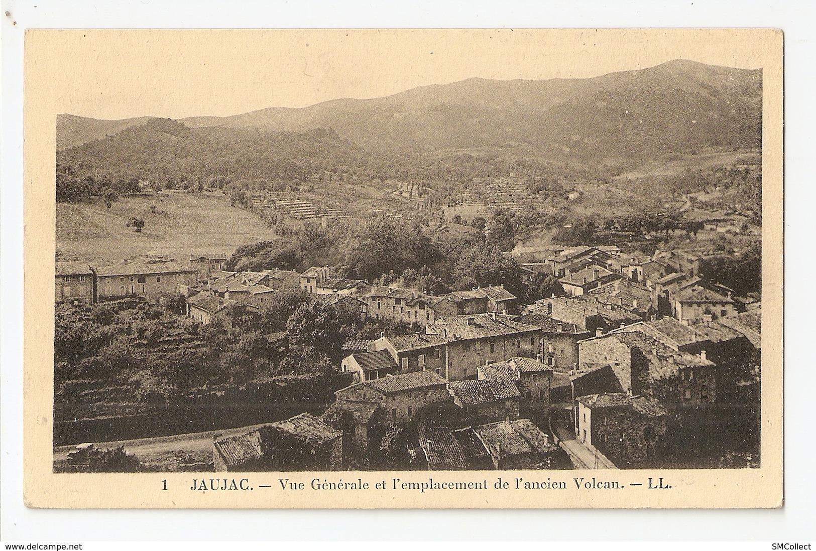 07 Jaujac, Vue Générale Et L'emplacement De L'ancien Volcan. Carte Inédite (2796) L300 - Other Municipalities