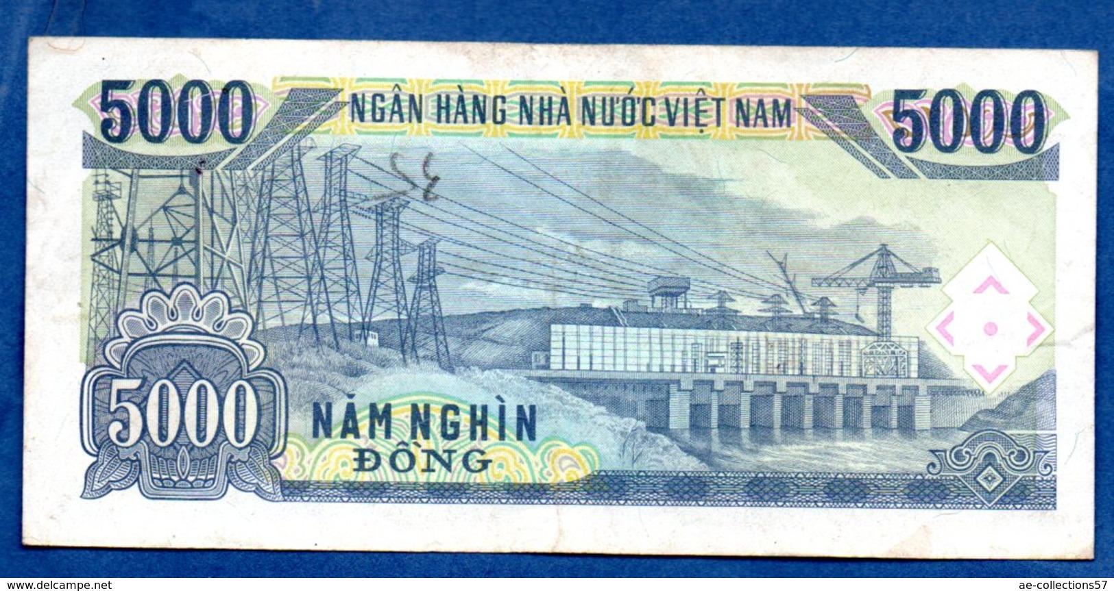 VIETNAM / Pick 108 / 5000 Dong  1991 / TB+ - Vietnam