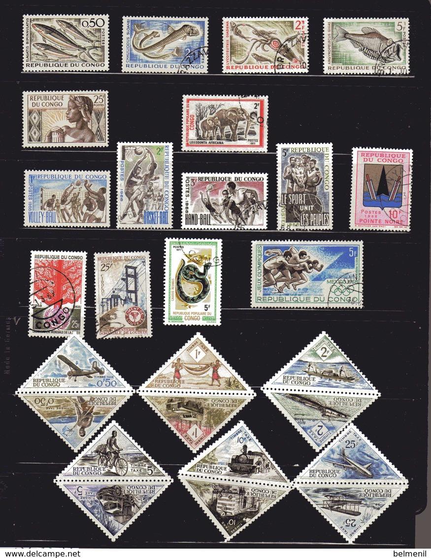 CONGO  Petit Lot De 27 Timbres Tous Différents ( Série Taxe Complète Et Neuve )  Cote 10€ - Congo - Brazzaville