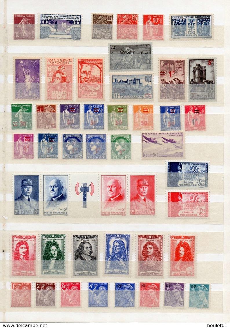 Lot De 82 Timbres Neufs Sans Charnière (du N° 189 Au N° 1212) Pour Une Cote De 449 Euros (2 Scans) - Collezioni