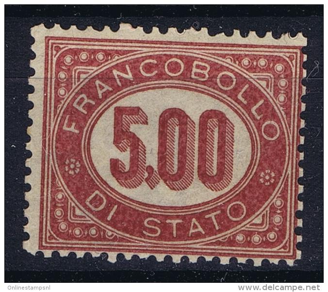 Italy  Servixio  Sa 7 Mi 7   Postfrisch/neuf Sans Charniere /MNH/** 1875 - 1861-78 Vittorio Emanuele II