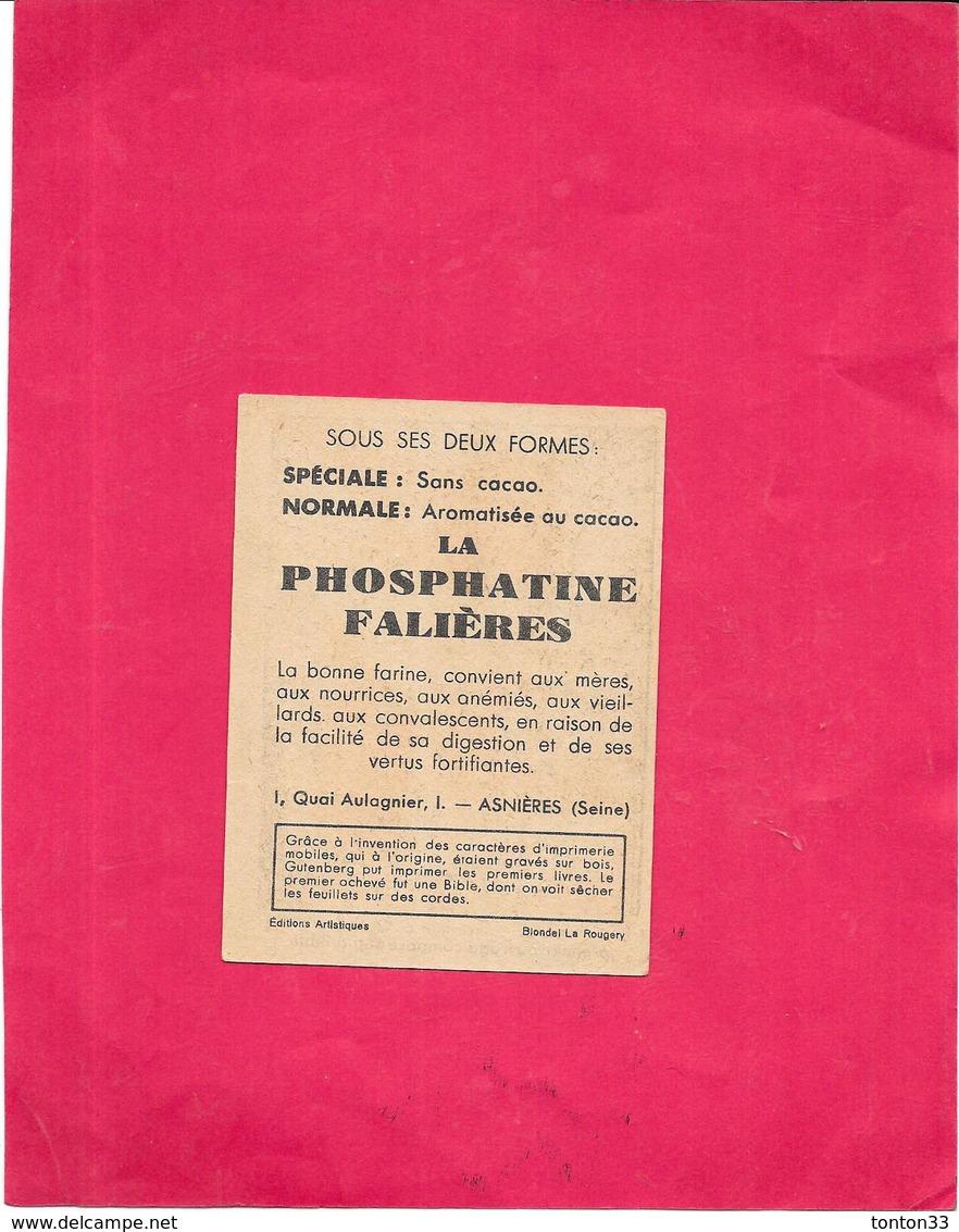CHROMO PHOSPHATINE FALIERES La Bonne Farine De Bébé - Début De L'imprimerie GUTENBERG...  - BARA1 - - Chocolat
