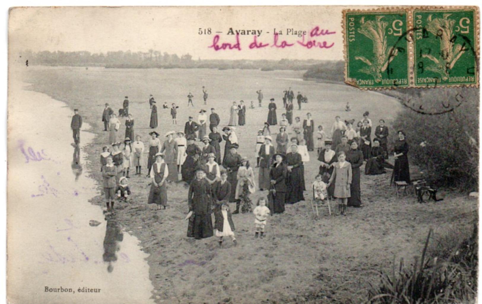 Loir Et Cher - AVARAY - La Plage Au Bord De La Loire - France
