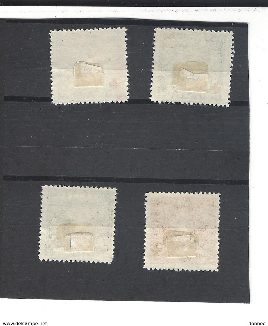 Montenegro 4 Timbres * Croix-Rouge Effigie De La Reine ( Non Répertorié Par Yvert Et Tellier ) (  1916 Mérignac ? ) - Montenegro