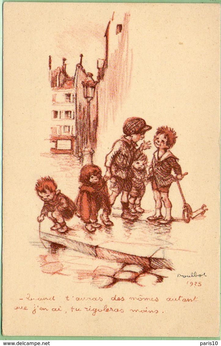 Carte Signée Poulbot 1925 - Autres Illustrateurs