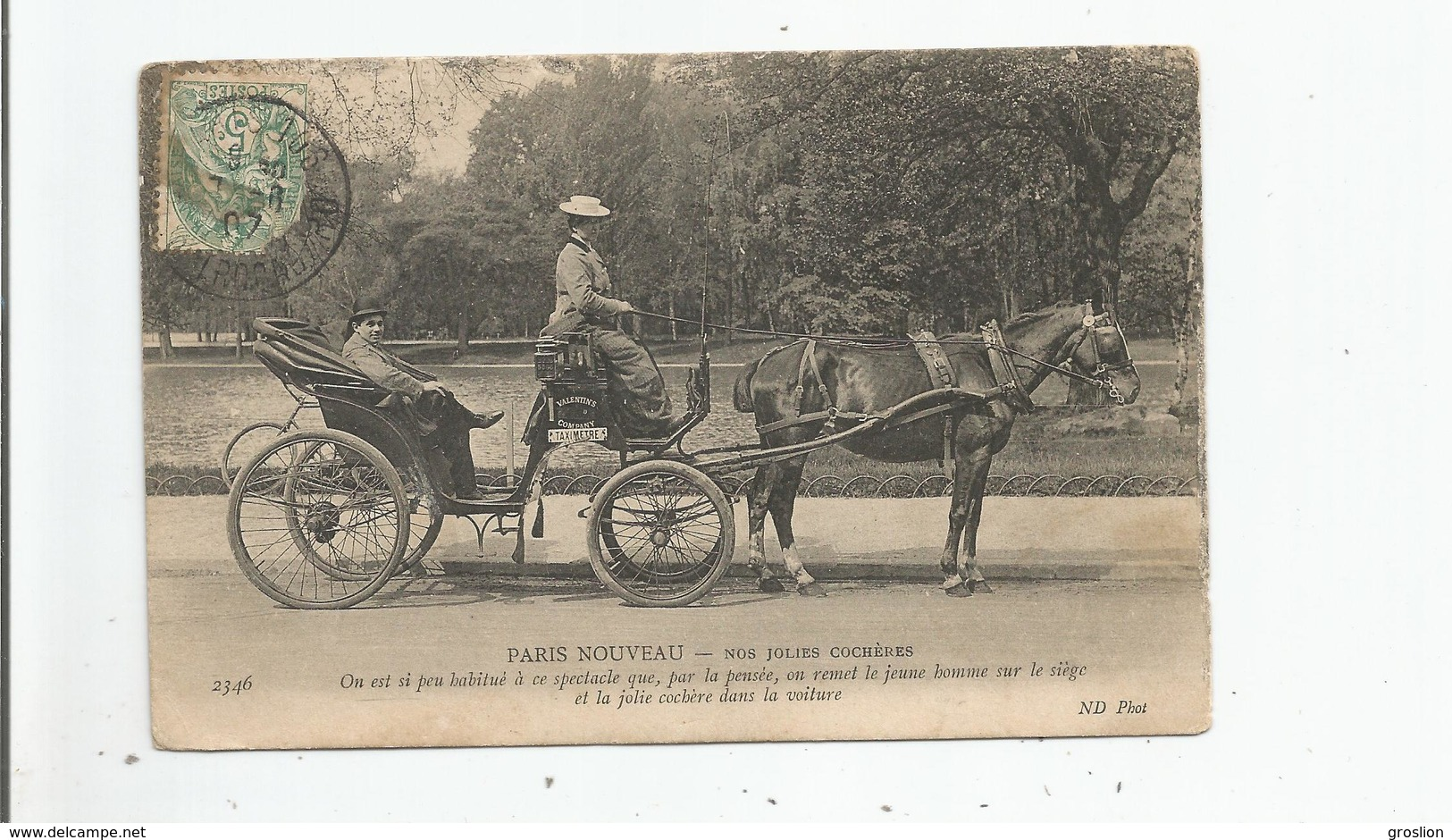PARIS NOUVEAU 2346 NOS JOLIES COCHERES 1907 - Petits Métiers à Paris