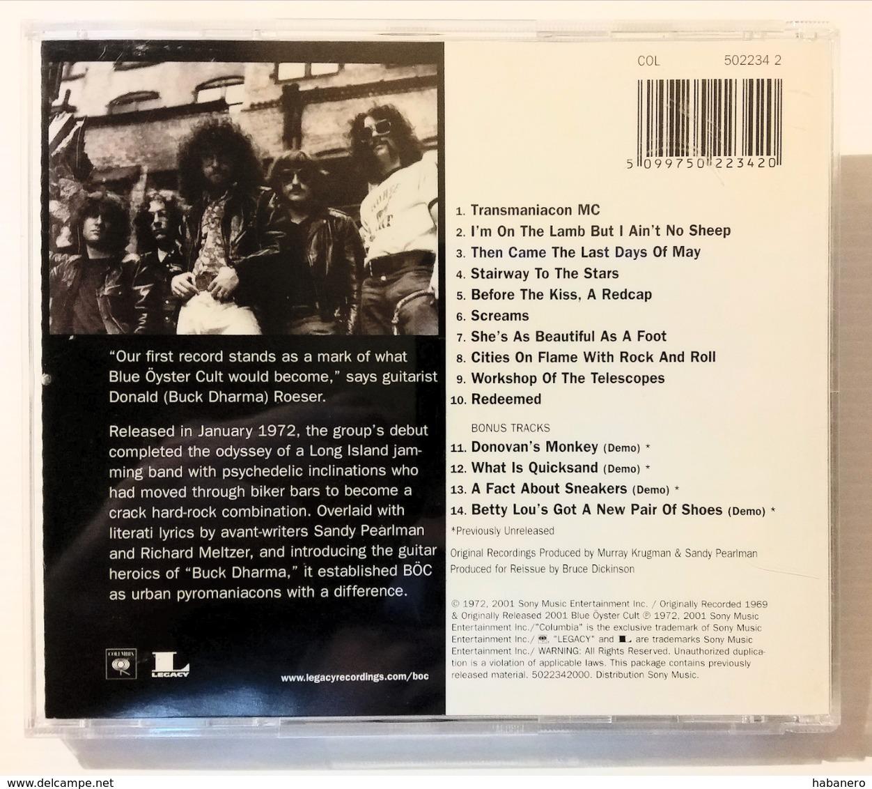 BLUE OYSTER CULT - REMASTERED & EXPANDED EDITION - CVLT CÖLLECTION - 4 BONUS TRACKS - Hard Rock & Metal