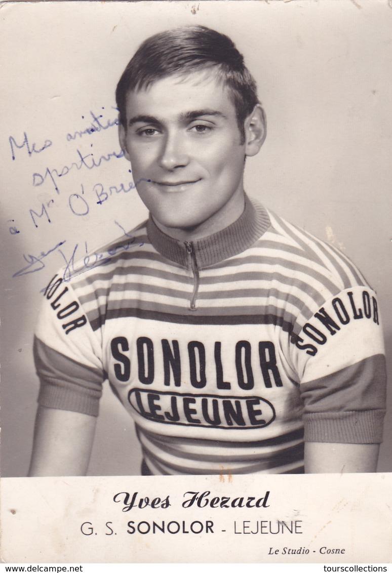 DEDICACE Autographe En 1971 - CYCLISME Yves HEZARD Coureur Cycliste De Donzy (58) (Equipe G.S SONOLOR - Lejeune) - Autographes