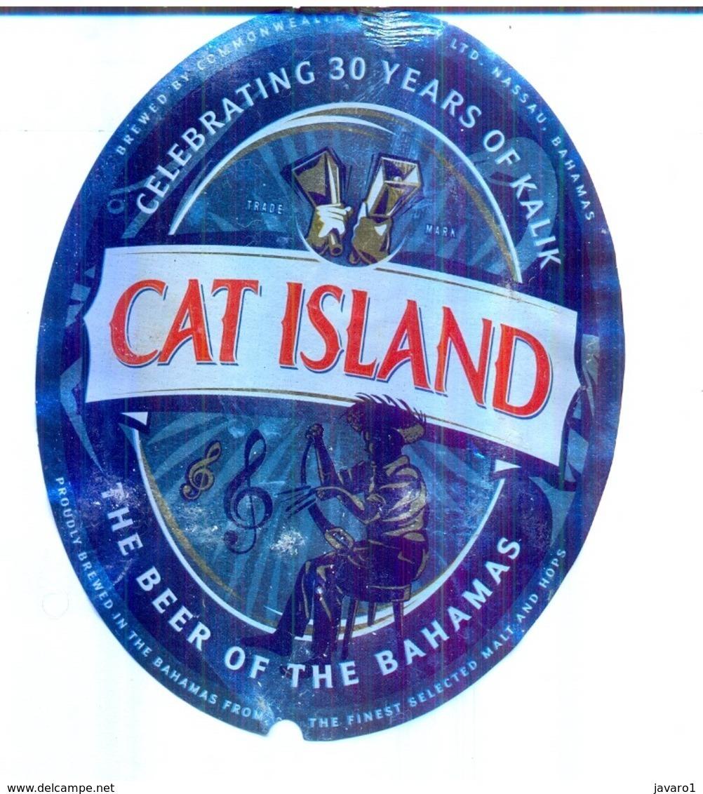 BAHAMAS : KALIK Beer CAT ISLAND  Label , With Bottle Top Label And Bottle Back Label - Beer