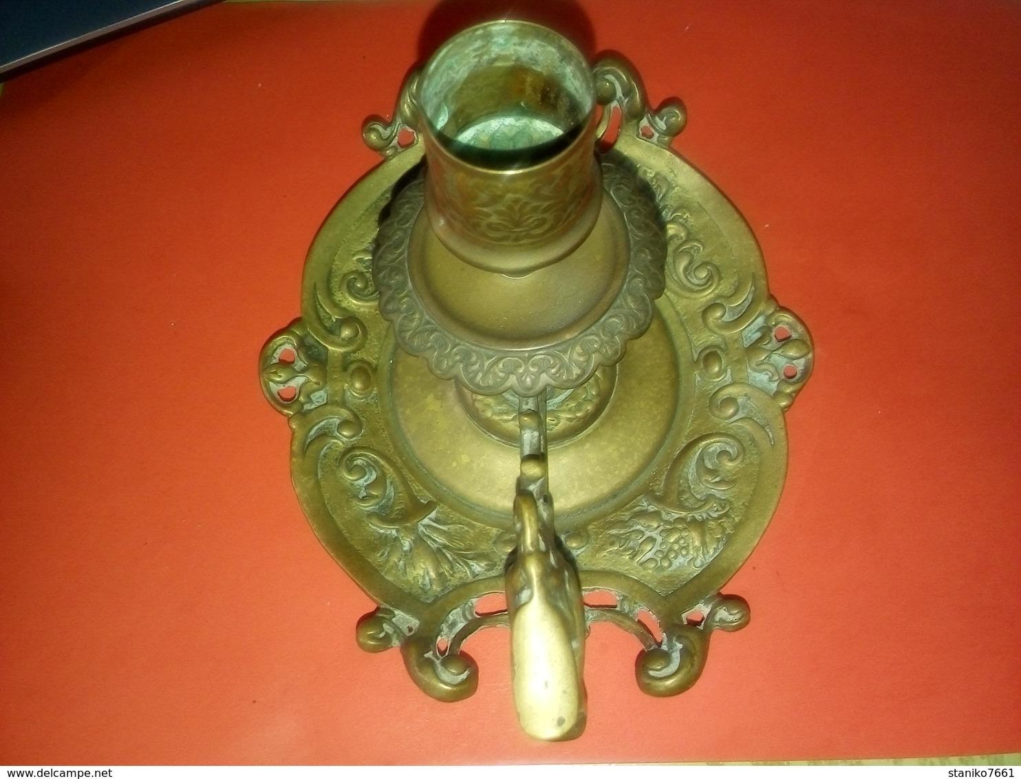 JOLI BOUGEOIR OU CHANDELIER ANCIEN à Identifier Et à Dater Bronze Ou Laiton Voir PHOTOS - Bronzes