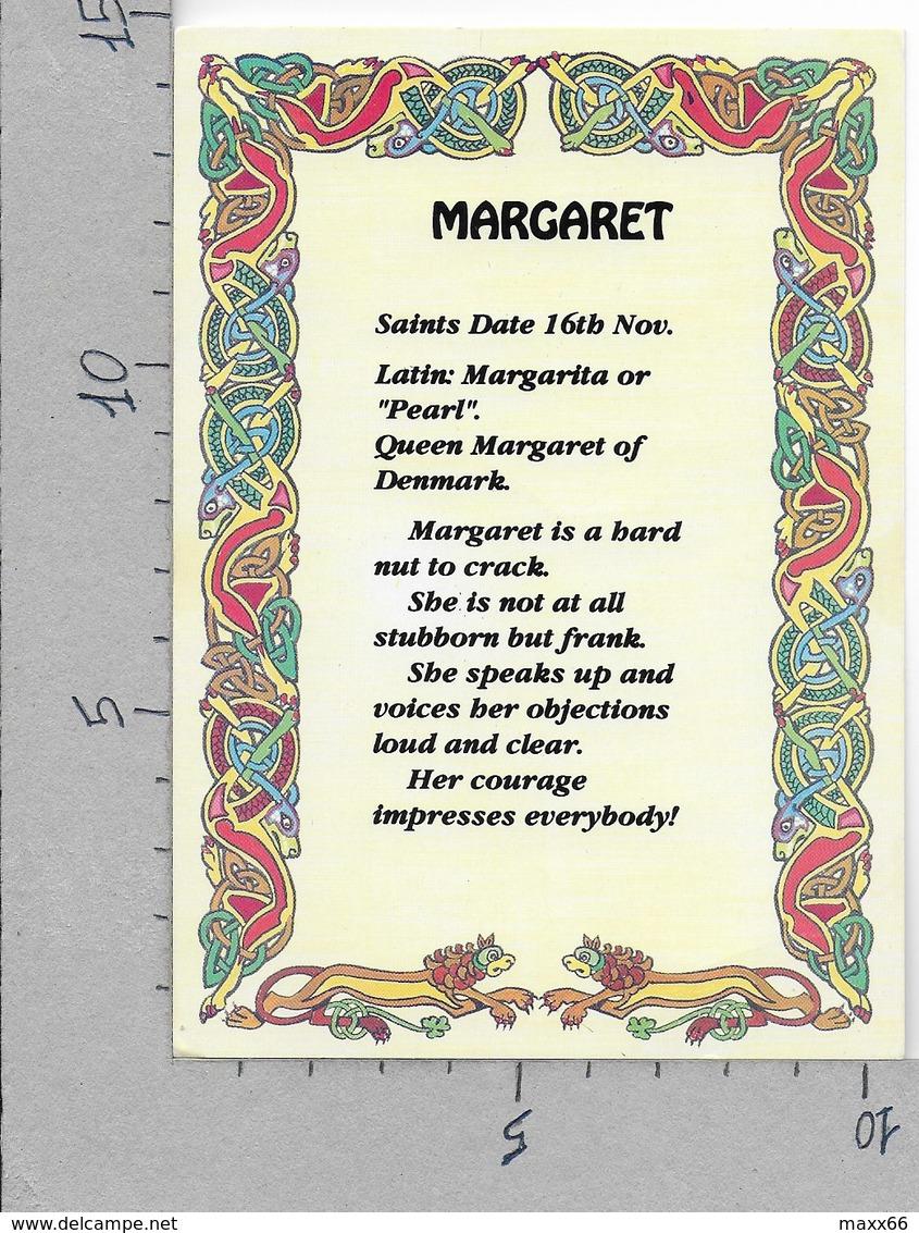CARTOLINA NV IRLANDA - NOMI - Margaret - IEL - 10 X 15 - Nomi