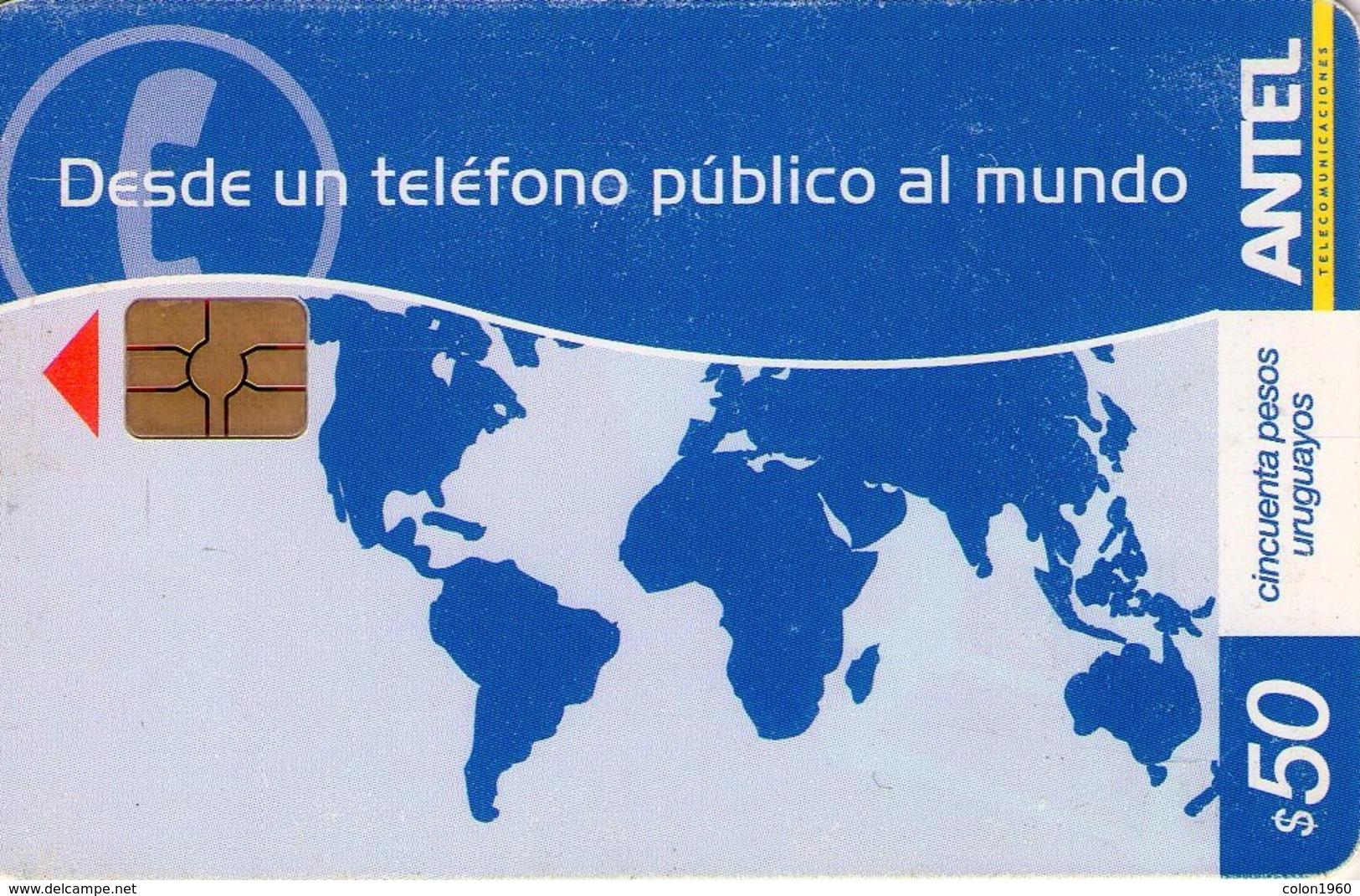 TARJETA TELEFONICA DE URUGUAY. 507a (DESDE UN TELEFONO PUBLICO AL MUNDO) (237) - Uruguay