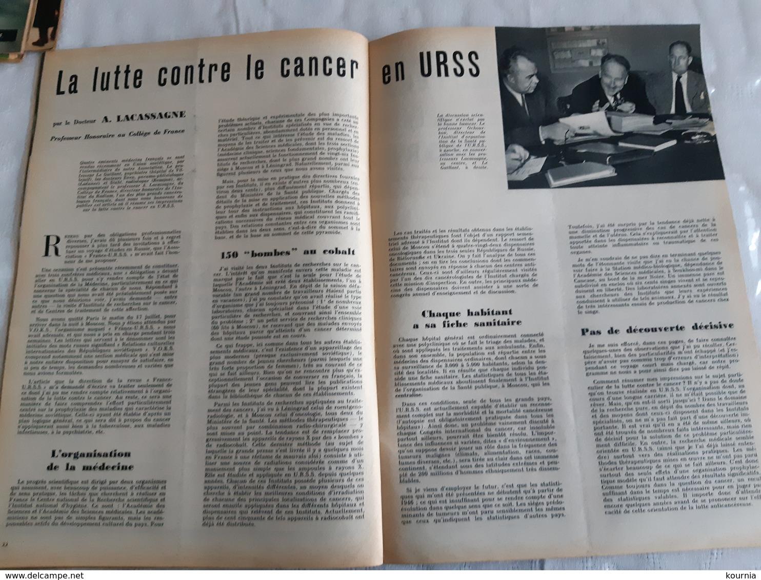 FRANCE URSS Magazine N°121OCTOBRE 1955 LE BATORY  FOLKLORE SOVIETIQUE A PARIS MOISSEIEV A PARIS - General Issues