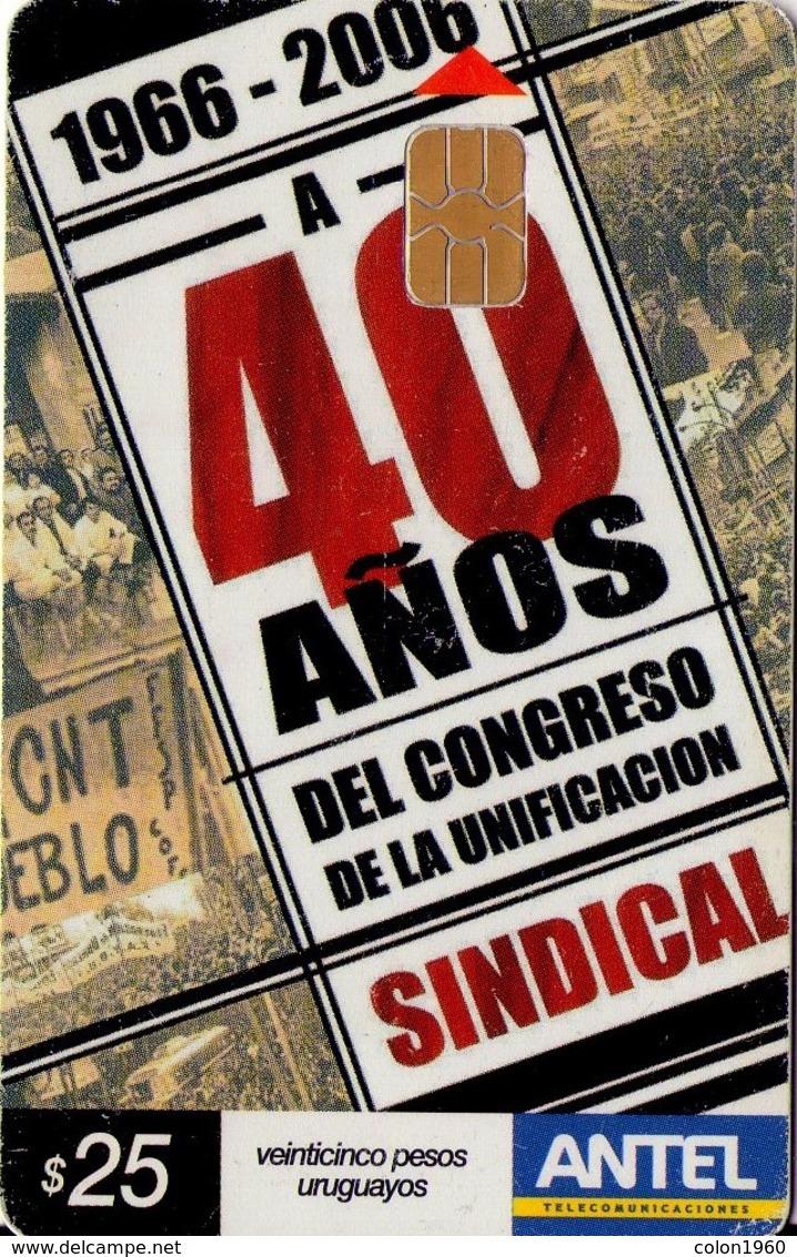 TARJETA TELEFONICA DE URUGUAY. 453a (UNIFICACIÓN SINDICAL) (248) - Uruguay