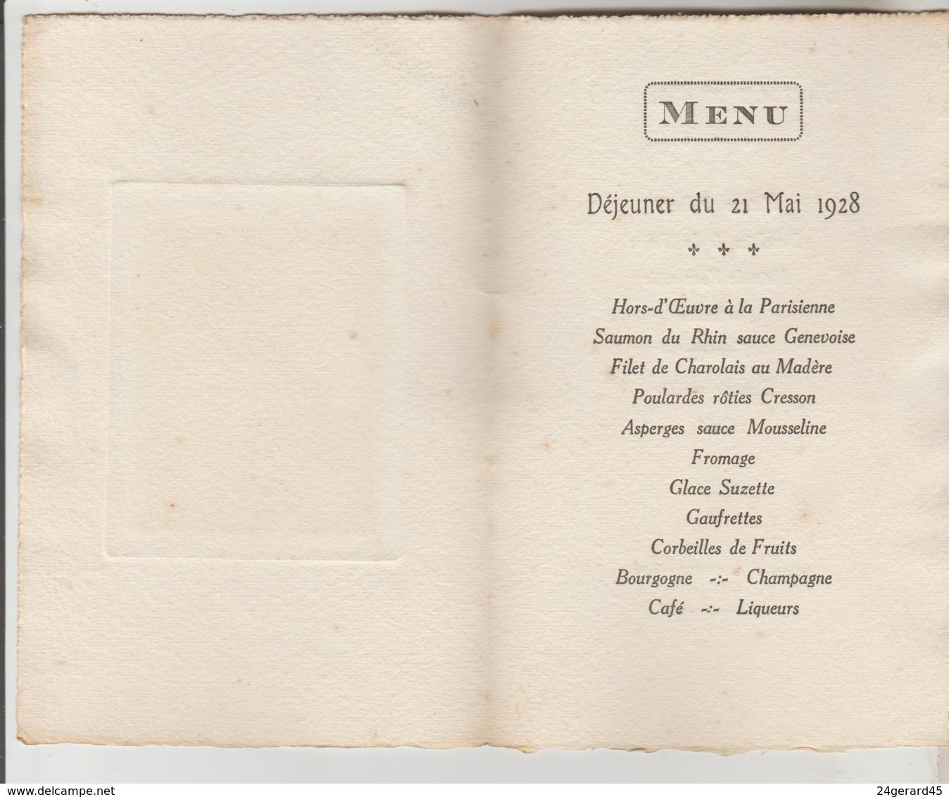 3 MENUS DOUBLE FEUILLET 1969, 1929, 1928 - Menus