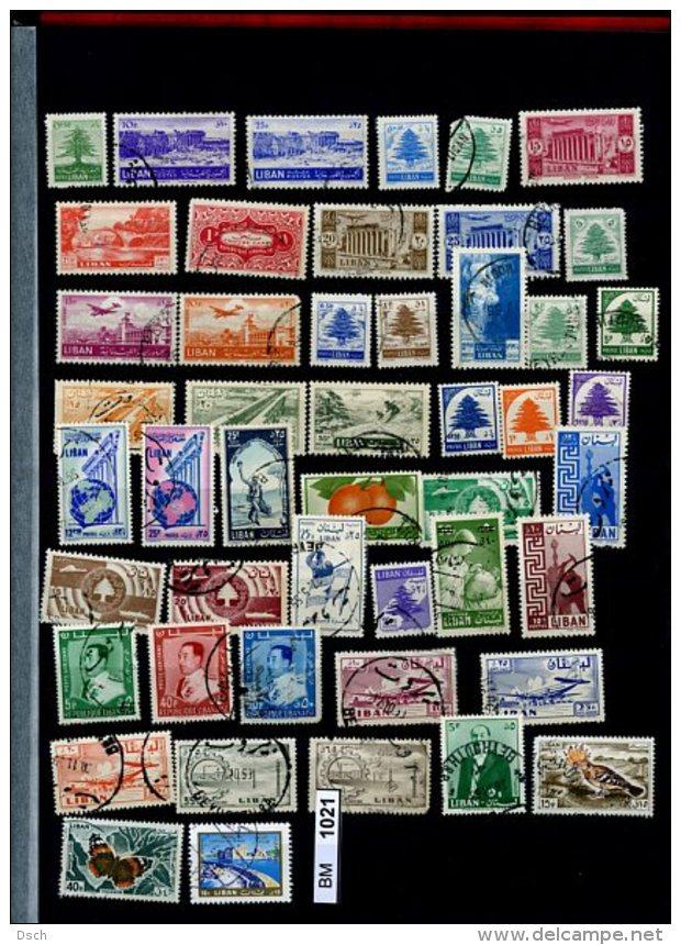 Arabische Staaten, Xx, X, (x), Libanon Meist Gestempelt, Ca. 220 Marken Auf Albumseiten - Libanon
